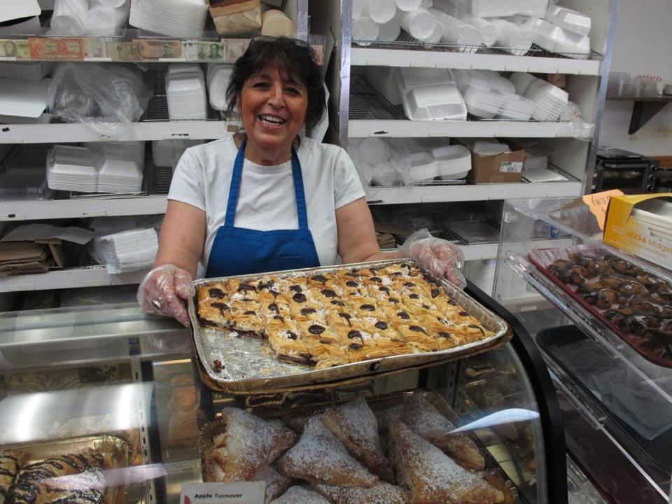 "Iffat Salahi makes five kinds of baklava, including her own ""coco-choklava."""